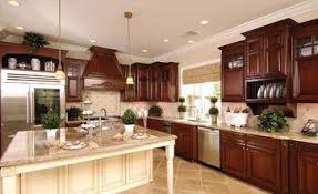 cherry kitchen cabinets with off white island kitchen ideas