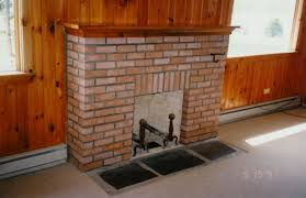 Living Room Red Brick Fireplace Simply Wooden Cabin House Design Ideas With Fetching Red Brick
