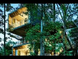 Treehouse Cleveland - 125 foot tall treehouse teaches boy scouts about true