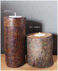 tree branch candle holder diy tree stump rustic candle holders