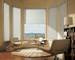 modern window treatments for bay windows living room home design