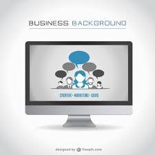 design pc monitor business computer monitor design vector free
