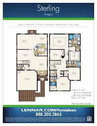 floor plans of homes aragon by lennar homes estate home floorplans