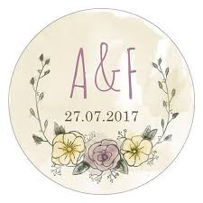 personalized wedding plate rustic chic personalized wedding favor sticker candy cake weddings