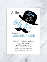 little man mustache baby shower mustache baby shower invitation little man is on his way blue
