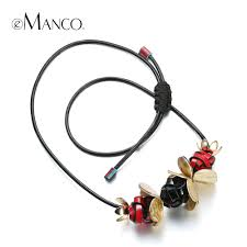 cord pendant necklace images Buy emanco black necklace leather cord handmade jpg