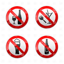 alcohol vector alcohol prohibited signs don u0027t drink vector clipart image 18160