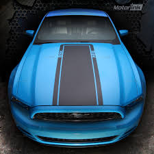 Blacked Out 2013 Mustang 2010 2015 Ford Mustang Mach1 Hood Stripe Decal Blackout Graphics