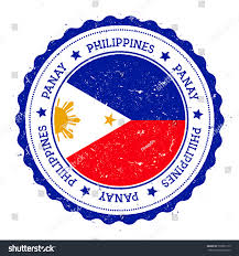 Philippine Flag Means Panay Flag Badge Grunge Rubber Stamp Stock Vector 530351173