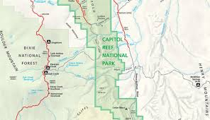 Utah National Park Map by Official Capitol Reef National Park Map Pdf My Utah Parks
