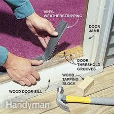 Replacing An Exterior Door Threshold How To Weather A Door Family Handyman