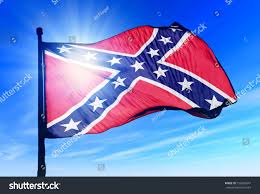 Dixi Flag Confederate Flag Waving On Wind Stock Illustration 156003647