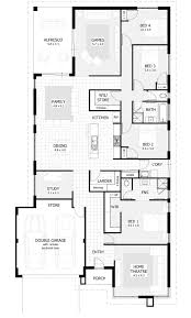4 bedroom single story house plans bedroom house plans home designs homes addition 3 1 floor modern