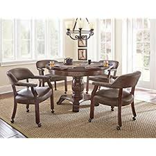 Silver Dining Table And Chairs Amazon Com Steve Silver Tournament 48