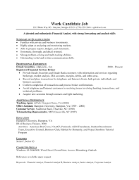 entry level financial analyst resume example resume objective