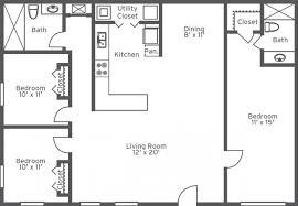 bedroom 2 bath 1 story house plans design ideas 3 bedroom floor