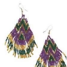 mardi gras earrings in beaded mardi gras earrings