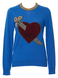 gucci u2013 thin heart and arrow sweater kirna zabête