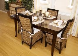 Wicker Dining Room Chairs Indoor Furniture Stylish Outdoor Patio With Rattan Dining Chairs And