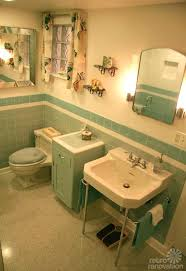 retro bathroom fixtures vintage blue colors from seven
