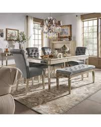 Mirrored Dining Room Furniture Deals On Clara Silver Velvet And Antique Gold