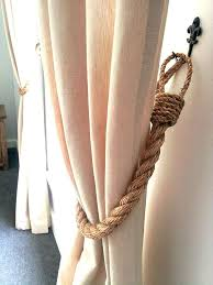 Curtain Rope Tie Backs How To Make Rope Tiebacks For Curtains Functionalities Net