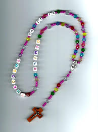 personalized rosary handmade children s personalized rosary or things i want to make