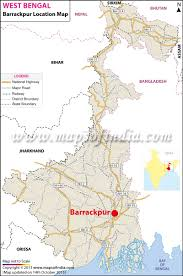 Outline Map Of India by Barrackpur Location Map Where Is Barrackpur