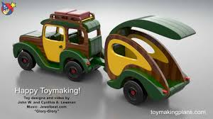 Free Wooden Toy Plans Patterns by Wood Toy Plans Woody Wagon And Trailer Youtube