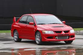 mitsubishi evo red 2003 mitsubishi lancer evolution fuel infection