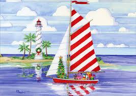nautical christmas cards christmas harbor nautical christmas card by lpg greetings