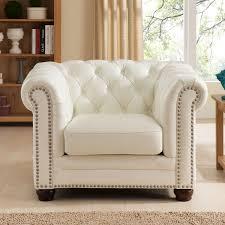 White Leather Club Chairs Amax Leather C9818scc2175ls Monaco 100 Leather 3 Piece Set Sofa