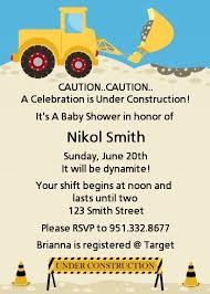 construction baby shower construction truck baby shower invitations candles and favors