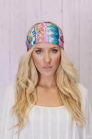 boho headband boho headband wide turban aztec covering in by threebirdnest