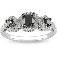 black and white engagement rings for past present future rings three engagement rings three