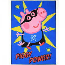superman peppa pig and other peppa pig little brother george rug great kids bedrooms the