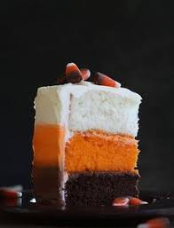 candy corn halloween cake this cake has a lot of buttercream and