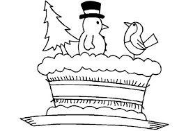 christmas cake coloring pages place color