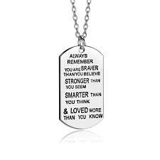 inspirational necklaces 2018 lettering always remember you are braver pendant