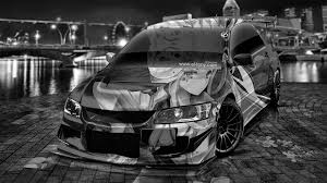 evo mitsubishi black 4k mitsubishi lancer evolution jdm tuning anime city energy