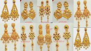 design of earrings gold earrings designs with weight party wear gold