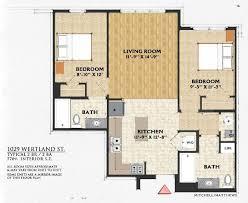 Northvale Floor Plan Charlottesville Apartment Rental 1029 Wertland Street