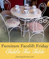 tea party table and chairs adorable for a little s room furniture facelift friday