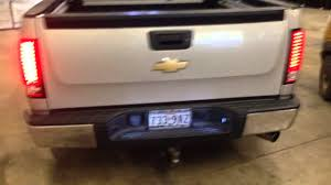 2008 chevy silverado led tail lights led tail lights and hid reverse lights 09 silverado youtube