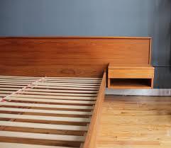Platform Bed With Floating Nightstands Danish Modern Teak Platform Queen Bed W Floating Nightstands