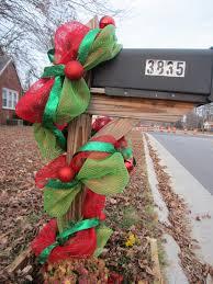 deco mesh christmas garland wanna put this on the wood pilars