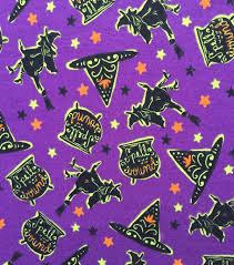 doodles halloween interlock cotton fabric 57