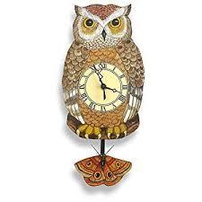 owl pendulum wall clock baby