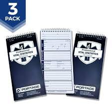 amazon com emt first responders vital statistics notebook 8