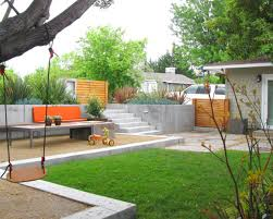 patio ideas for sloped yard landscape a simple minimalist sloping